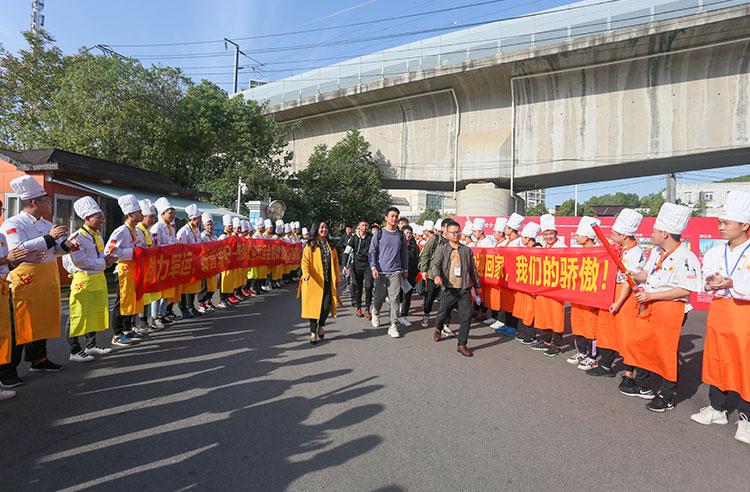 军运村返回欢迎仪式